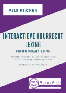 flyer huurrechtlezing